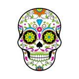 Crânes mexicains de sucre, jour de l'illustration morte de vecteur sur le fond blanc illustration stock