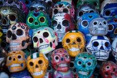 crânes morts de jour Images libres de droits