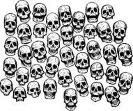 Crânes multiples illustration de vecteur