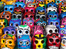 Crânes pour le jour des morts dans Ensenada, Baja, la Californie, Mexique Image libre de droits