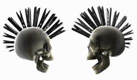 Crânes punks Photographie stock