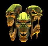 Crânes riants de démon Photographie stock