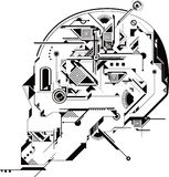 Crânio abstrato Fotografia de Stock