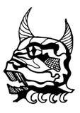 Crânio abstrato da vaca ilustração do vetor