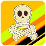 Crânio & Crossbones Imagens de Stock