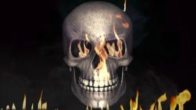 Crânio ardente do fogo ilustração stock