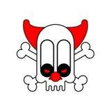 Crânio assustador do palhaço Pesadelo terrível Ilustração do vetor ilustração do vetor
