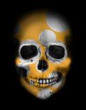 Crânio branco com círculos dourados Imagem de Stock