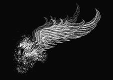 Crânio com asas ilustração royalty free