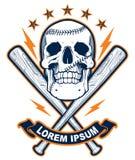 Crânio com bastões de beisebol Imagem de Stock Royalty Free