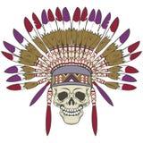 Crânio com mantilha indiana Imagens de Stock