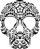 Crânio com teste padrão floral Fotos de Stock Royalty Free