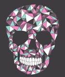 Crânio com teste padrão geométrico. ilustração do vetor