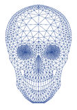 Crânio com teste padrão geométrico, vetor Foto de Stock Royalty Free