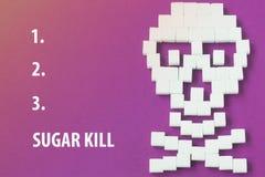 Crânio d do açúcar Imagem de Stock Royalty Free