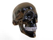 Crânio 3D metálico ilustração royalty free