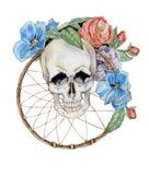 Crânio da flor Fotos de Stock