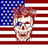 Crânio da tatuagem ilustração do vetor