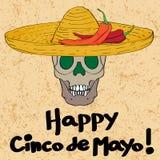 Crânio de Cinco de Mayo Foto de Stock