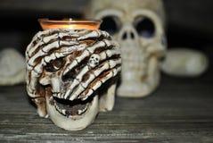Crânio de Dia das Bruxas Imagens de Stock Royalty Free
