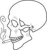 Crânio de fumo ilustração stock