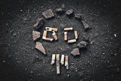 Crânio de fumo Fotografia de Stock