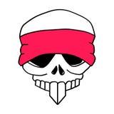 Crânio de Headbanded ilustração do vetor