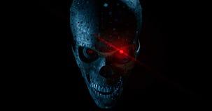 Crânio de Malware ilustração do vetor