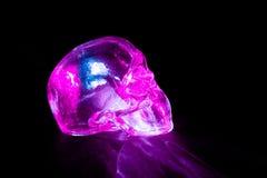 Crânio de vidro cor-de-rosa Foto de Stock Royalty Free