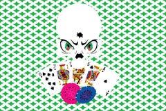 Crânio do casino Ilustração Royalty Free
