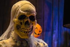 Crânio do dia de Dia das Bruxas Imagens de Stock