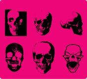 Crânio do estilo de Emo Imagens de Stock Royalty Free