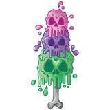 Crânio do gelo ilustração do vetor