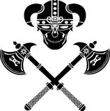 Crânio do guerreiro Fotografia de Stock Royalty Free