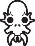 Crânio do monstro com pontos sobre os olhos Fotos de Stock Royalty Free