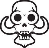 Crânio do monstro com presas Imagens de Stock