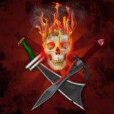Crânio do pirata Imagens de Stock