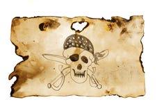 Crânio do pirata com espadas ilustração do vetor