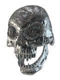 crânio do vampiro do metal da ilustração 3D Fotos de Stock