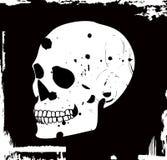 Crânio do vetor de Grunge Fotografia de Stock