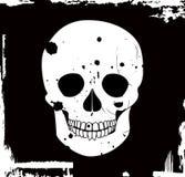 Crânio do vetor de Grunge Imagens de Stock