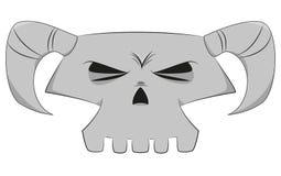 Crânio dos desenhos animados ilustração do vetor