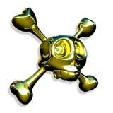 Crânio dourado Fotos de Stock