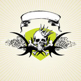 Crânio e coroa de Grunge Fotografia de Stock Royalty Free