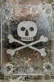 Crânio e cross-bones Fotos de Stock Royalty Free