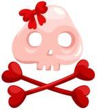 Crânio e crossbones ilustração do vetor