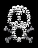 Crânio e Crossbones Imagem de Stock Royalty Free