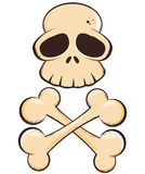 Crânio e desenhos animados dos Crossbones ilustração stock