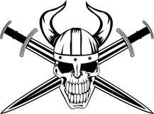 Crânio e espada Imagens de Stock