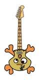 Crânio e guitarra elétrica dos ossos Imagens de Stock